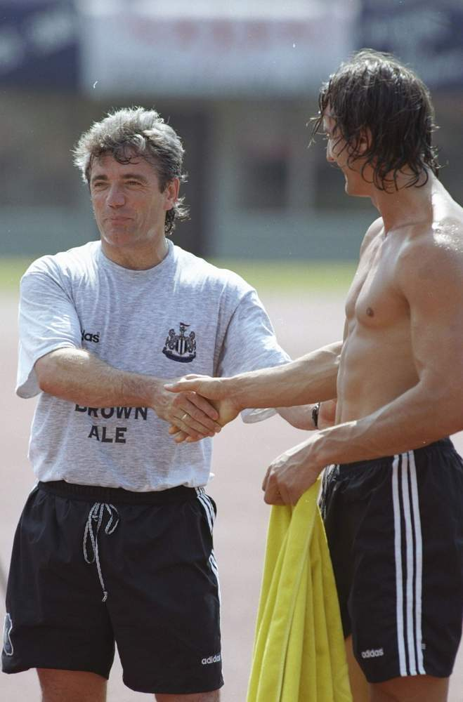 Kevin Keegan and David Ginola in 1996